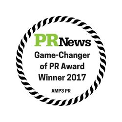 PR News GameChanger of PR Award Winner 2018