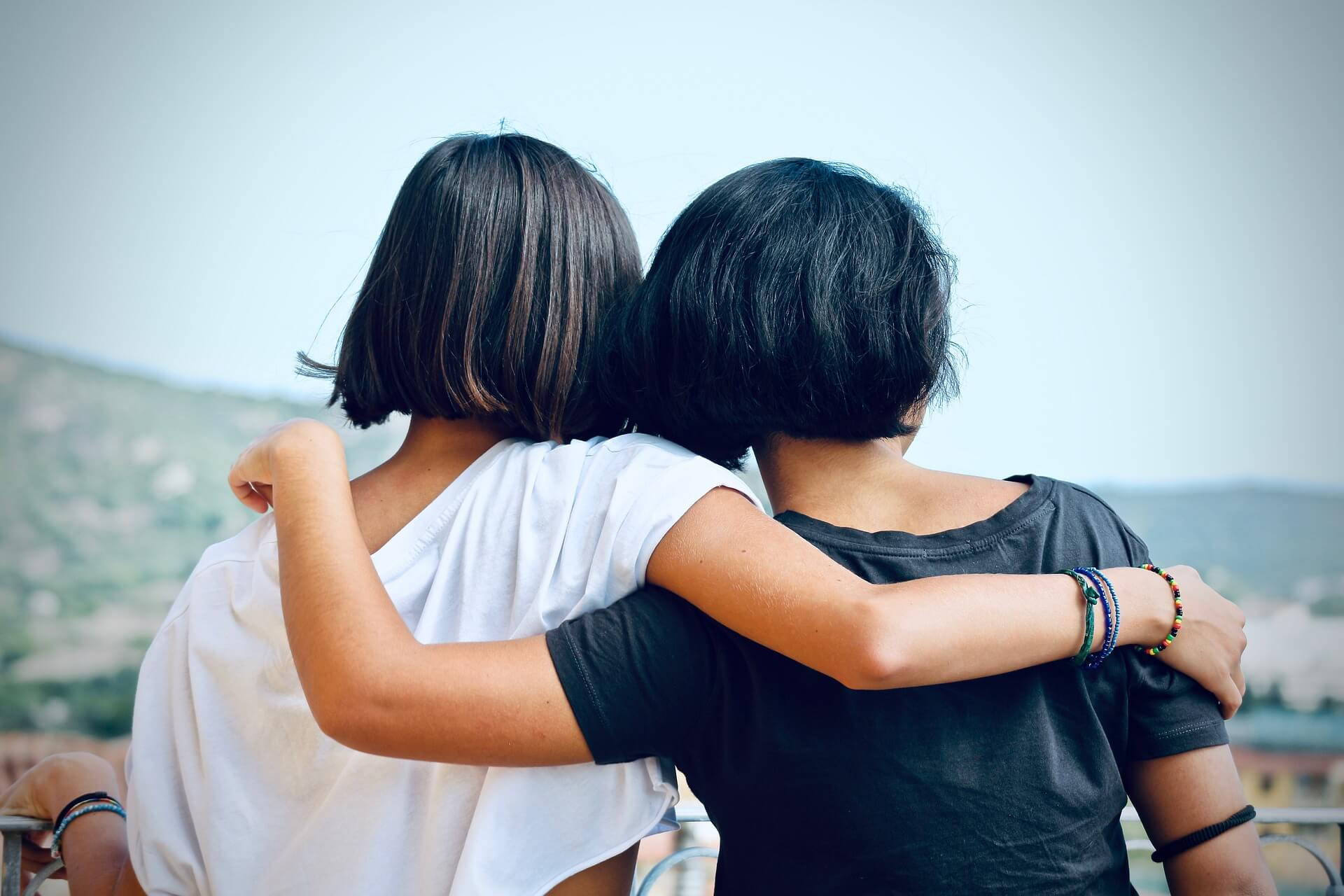 Girl friends hugging